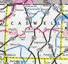 Caswell County Maps